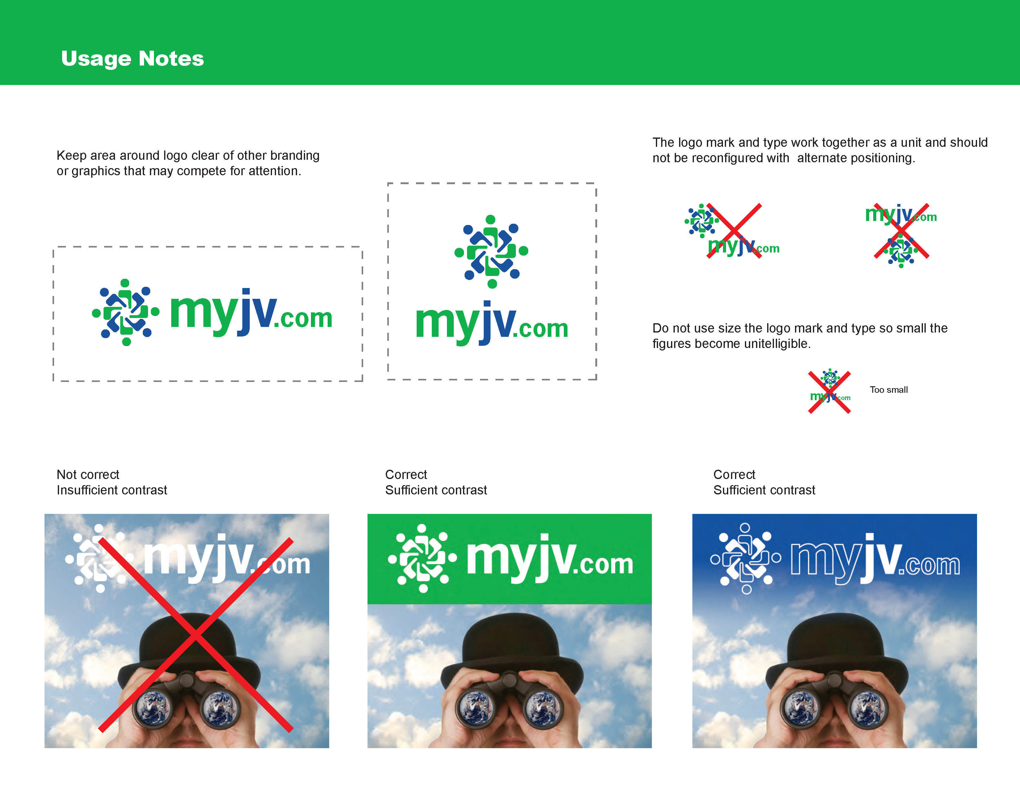 MyJV.com Branding Identity Guidelines Page 2 Logo and Color Usage Notes