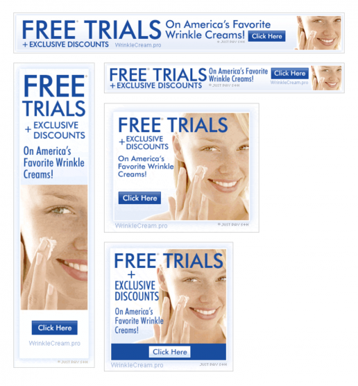 ppcassociates-wrinkle-cream-free-trials-banner-ad-previews