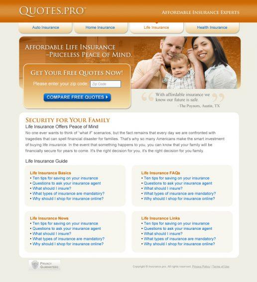 quotes-pro-website-design-life-insurance-page-alt-look-1