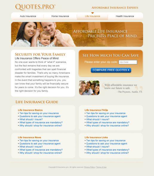 quotes-pro-website-design-life-insurance-page-alt-look-2