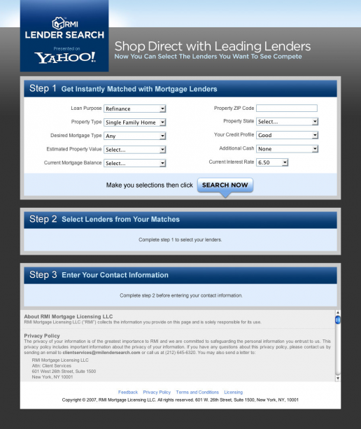 yahoo-lender-search-root-markets-trust-security-landing-page