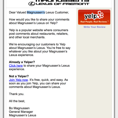 zuberance-email-for-magnussens-lexus-of-fremont