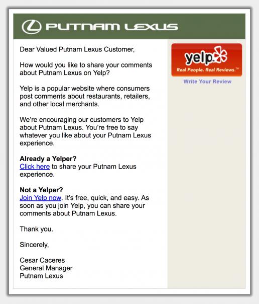 zuberance-email-for-putnam-lexus