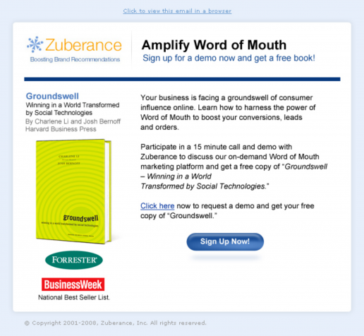 zuberance-word-of-of-mouth-groundswell-book-campaign-email-design